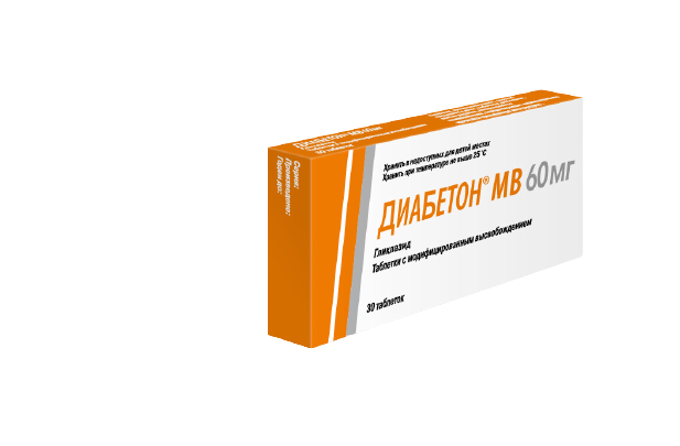 Диабетон МВ 60 мг
