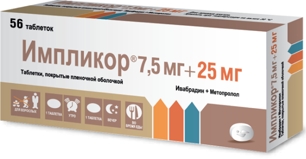 Импликор® 7,5 мг + 25 мг