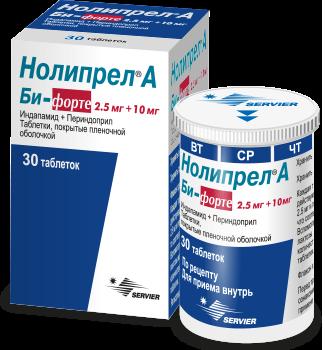 Нолипрел Би-форте 2.5 мг + 10 мг